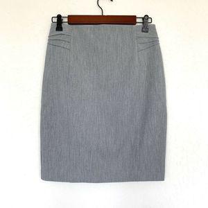 Express Gray High Rise Straight Pencil Skirt